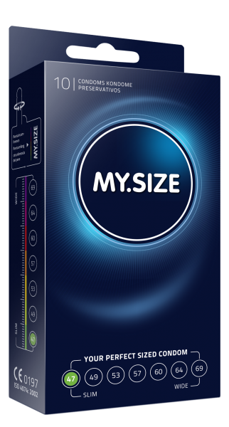 MY.SIZE 47 mm Condoms 10 Pack