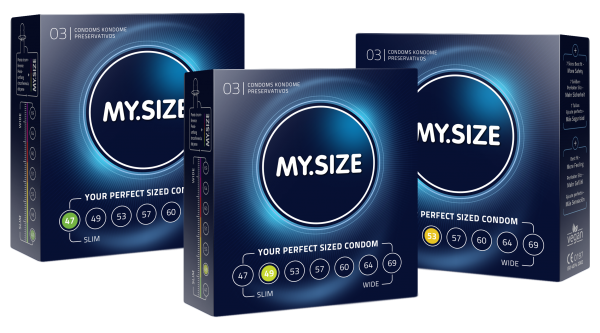My Size Condoms Tester 3 Pack 47-49-53 (3x3 Condoms)